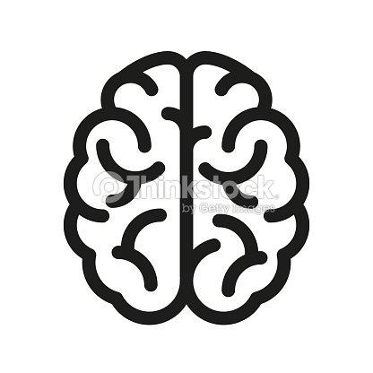 人間の脳のアイコン - ベクトル : ベクトルアート