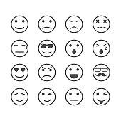 Menschliche Gefühle Symbole Vektorgrafik - Thinkstock