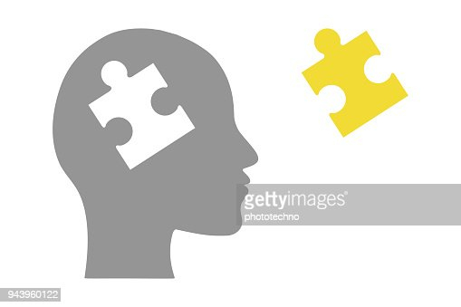 Human head of puzzle : Vector Art
