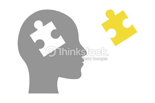 Human head of puzzle : stock vector