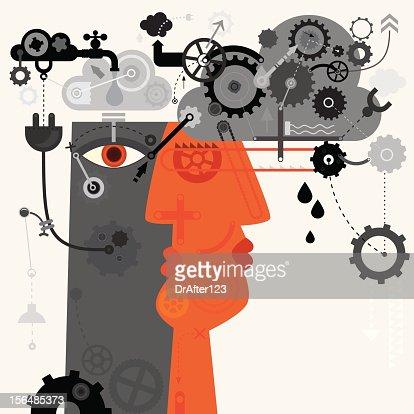 Human Machine : Vector Art