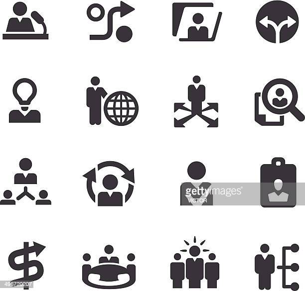 Human Resource and Business Strategy Icons - Acme Series