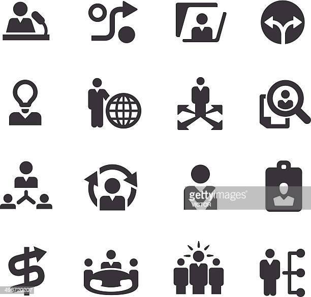 Risorse umane e icone di strategia aziendale-Serie Acme