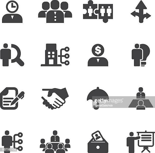 Human resource and Management Silhouette icons | EPS10