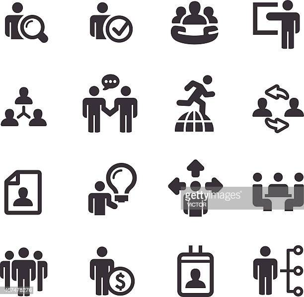 Human Resource, Geschäft und Strategie Icons-Acme Series