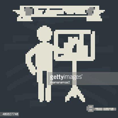 Human resource concept on blackboard background,vector : Vector Art