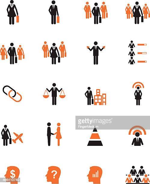 Human resource icon set