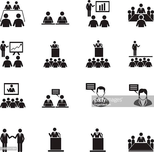 Risors'umane e gestione icone set