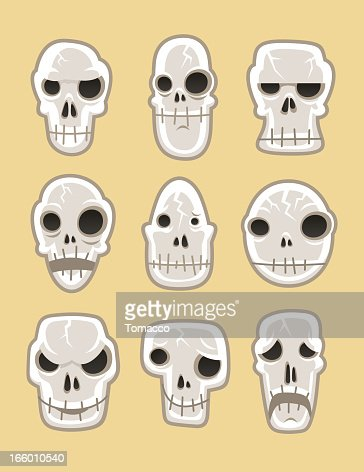 Human Skeleton Dead Skull Horror Silhouette Symbol Vector Art