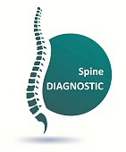 Human spine. Backbone as a symbol or logo for healthy vertebras. Vector illustration