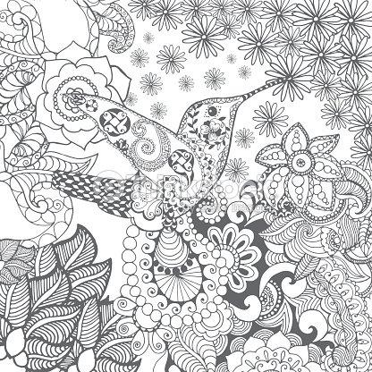 Colibrí De Flores Arte vectorial | Thinkstock