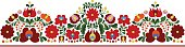 Authentic Hungarian matyo embroidery pattern for borders