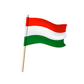 Hungary flag (red, white and green stripes). Vector illustration