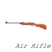 Hunting repeating rifle .22 Long Rifle. Isolated on white background