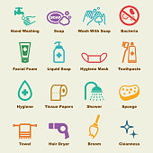 hygiene elements, vector infographic icons