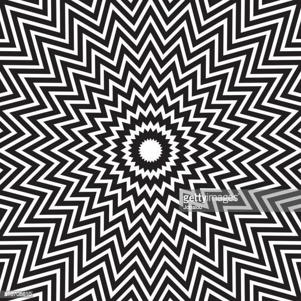Hypnotiserende concentrische abstracte lijnen