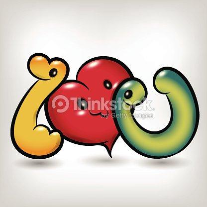 I Love You Symbol Cartoon Vector Art Thinkstock