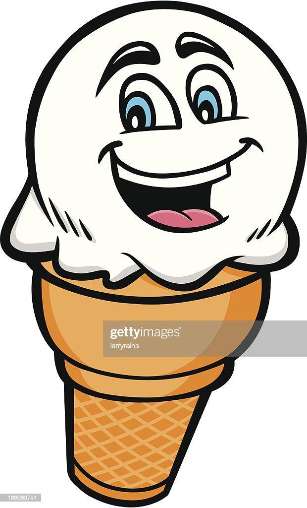 Ice Cream Cone Mascot : Vector Art