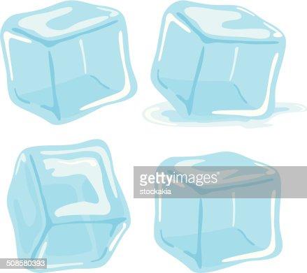 Ice cubes : Vectorkunst