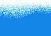 Ice frosted background. Eps8. RGB. Global colors. One editable gradient is used for easy recolor