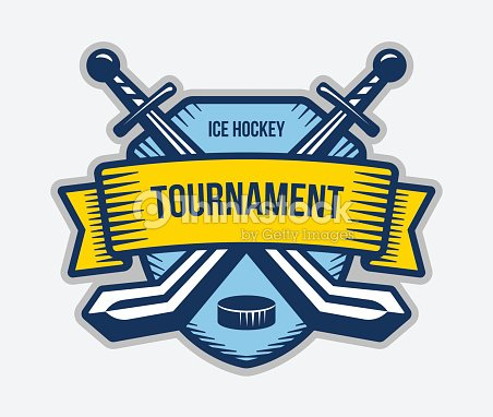 Ice hockey vector . Winter team sport tournament. Knight, pirate, buccaneer, warrior sword mascot.