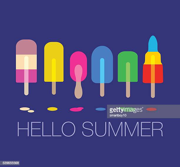 Ice lollies or Popsicles