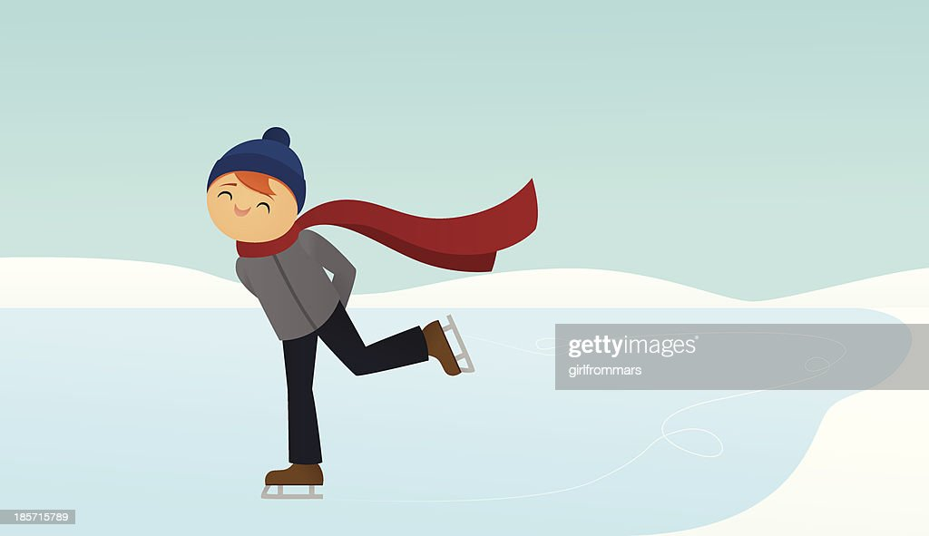 Ice Skating : Vector Art