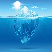 Iceberg illustration in vector