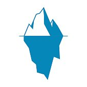 Iceberg vector icon isolated on white background