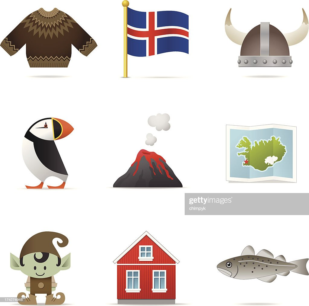 Iceland Icons : Vector Art