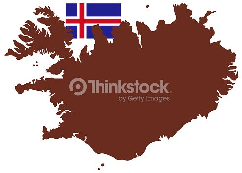 Iceland Map And Flag Vector Art | Thinkstock