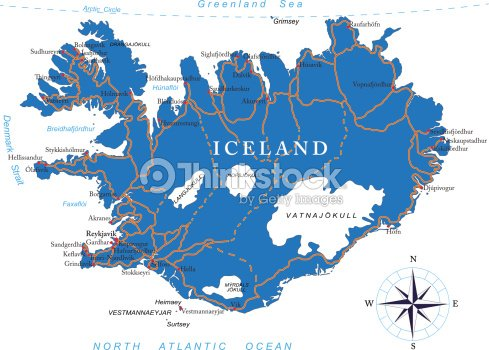 Iceland Map Vector Art | Thinkstock