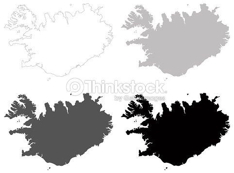 Iceland Maps Vector Art | Thinkstock