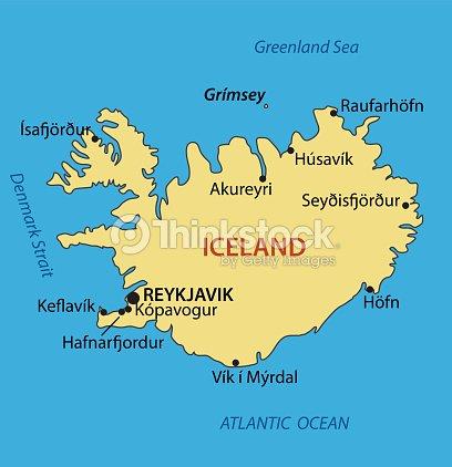 Iceland Vector Map Vector Art | Thinkstock