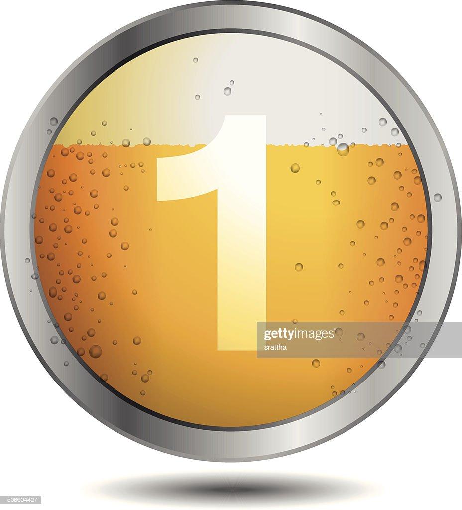 Icono de cerveza alfabeto letras 1 : Arte vectorial