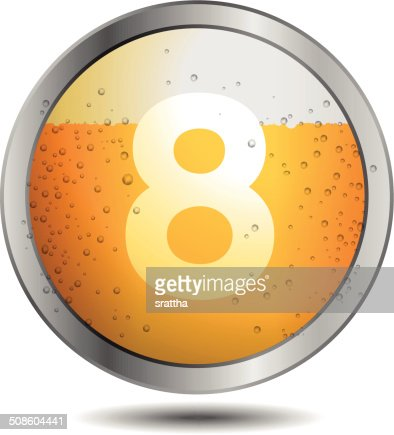 Icon Beer Alphabet Font 8 : Vector Art