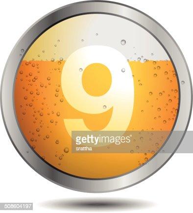 Icon Beer Alphabet Font 9 : Vector Art