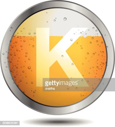 Icon Beer Alphabet Font K : Vector Art