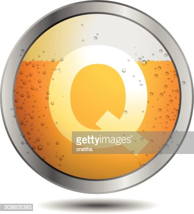 Icon Beer Alphabet Font Q : Vector Art