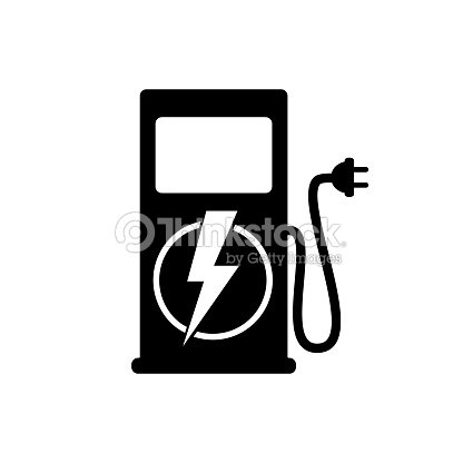 Icon Charging Stations Of Electric Cars Vector Art Thinkstock