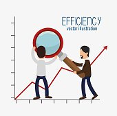 icon efficient management design isolated vector illustration eps 10
