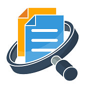 icon for business administration, document / file management