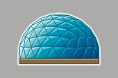 Icon geodesic dome. Vector flat illustration. flat design