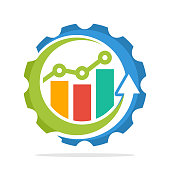 icon icons with the concept of the process of increasing sales, the process of economic growth, the process of investment growth