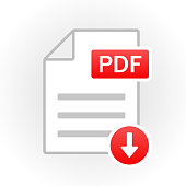 PDF icon isolated. File format. Vector illustration