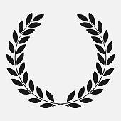 icon laurel wreath - vector illustration Black, dark icon laurel