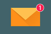 icon message. new one incoming message. envelope with shadow. Eps10