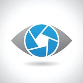 Design Concept of  Shape and Icon of a Shutter Eye