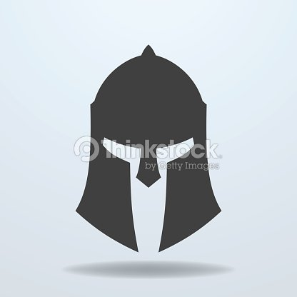 Icon of ancient Greek, Roman, Spartan helmet. : stock vector