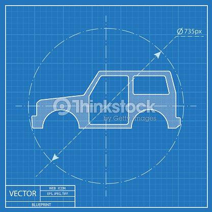Icon of car body blueprint style vector art thinkstock icon of car body blueprint style vector art malvernweather Gallery